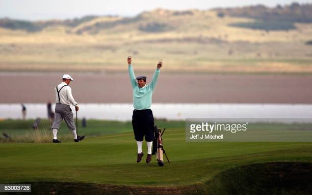 Golfers take part in the World Hickory Open Golf Championship at Craigielaw by Aberlady East Lothian on September 25 2008 in Edinburgh Scotland Fifty...