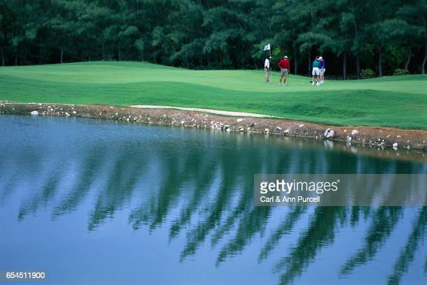 Golfing by water