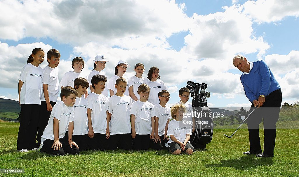 Golfing legend and 18 time Major winner and RBS ambassador Jack Nicklaus launches a partnership between RBS and the Scottish Golf's clubgolf initiative, which aims to introduce every primary school child to golf by the age of nine at Gleneagles on June 28 2011 near Muirton, Scotland.
