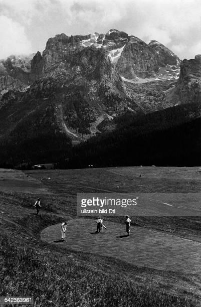 Golfplatz in Madonna die Campiglio 1933erschienen Dame 20/1933