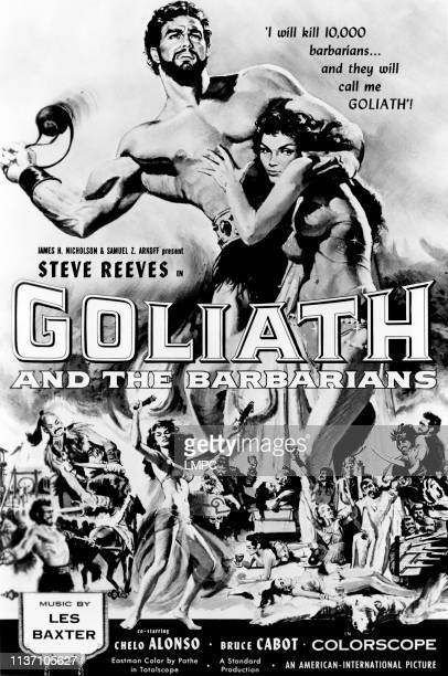 Goliath And The Barbarians poster Steve Reeves Chelo Alonso 1959