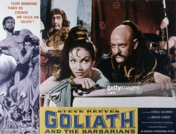 Goliath And The Barbarians poster Steve Reeves Chelo Alonso Livio Lorenzon 1959