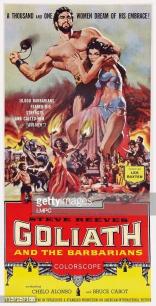 Goliath And The Barbarians poster US poster art top from left Steve Reeves Chelo Alonso 1959