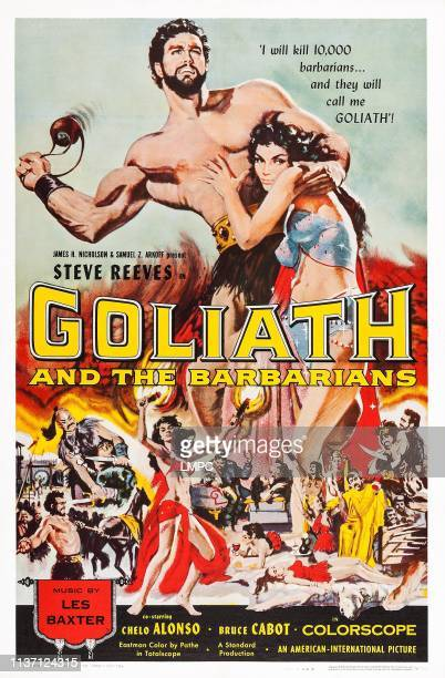 Goliath And The Barbarians poster US poster top from left Steve Reeves Chelo Alonso 1959