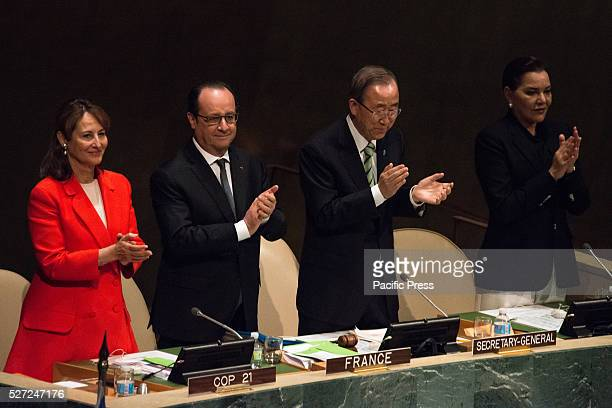 S��gol��ne Royal Fran��ois Hollande Ban Kimoon and Lalla Hasna preside over the opening ceremony Leaders from around the world gathered in General...