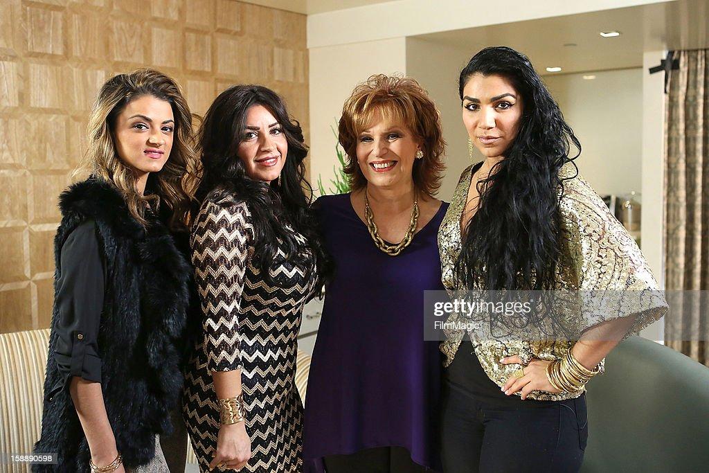 Golnesa 'GG' Gharachedaghi, Mercedes 'MJ' Javid, Joy Behar and Asa Soltan Rahmati attend the Joy Behar Set Photography For Current TV at The London Hotel on January 2, 2013 in West Hollywood, California.