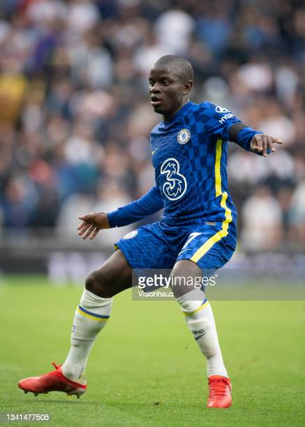 Golo Kanté of Chelsea during the Premier League match between Tottenham Hotspur and Chelsea at Tottenham Hotspur Stadium on September 19, 2021 in...