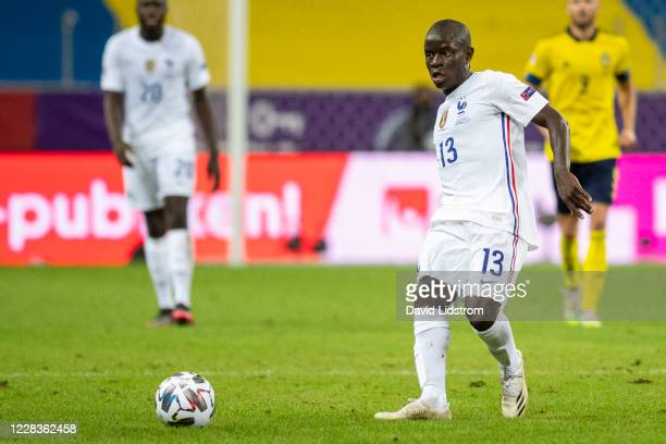 Golo Kanté of France during the UEFA Nations League group stage match between Sweden and France at Friends Arena on September 5 2020 in Stockholm...