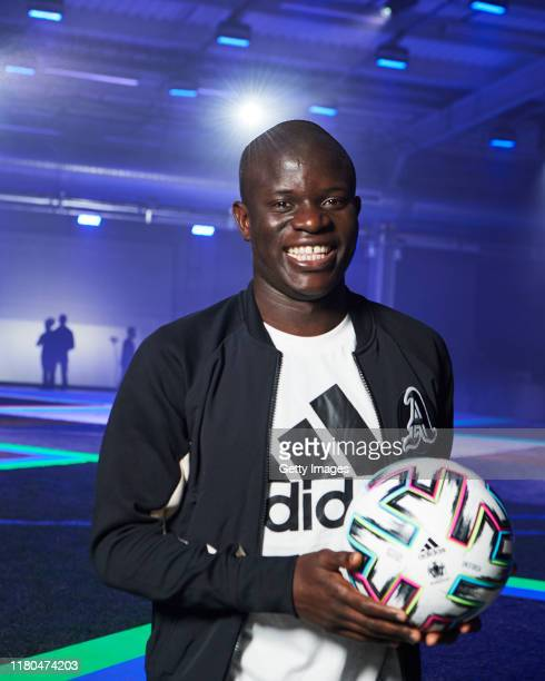 Golo Kante is pictured at the launch of adidas Uniforia – the Official Match Ball for UEFA EURO2020TM at The Mail Centre in Vauxhall, London....