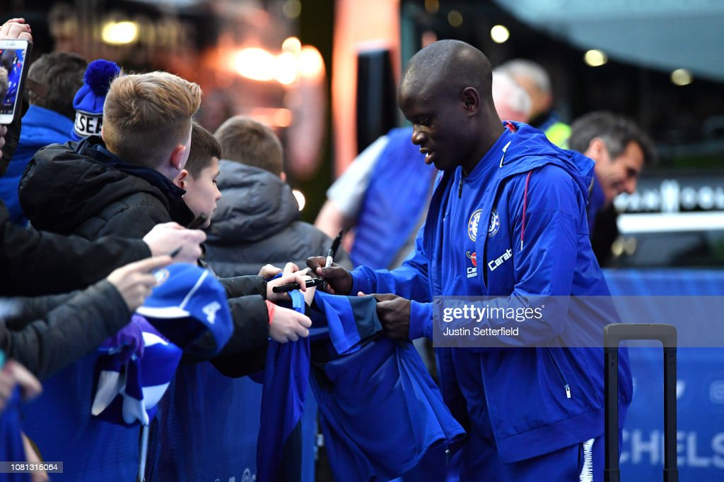 N'golo Kante Of Chelsea Arrives Prior To The Premier