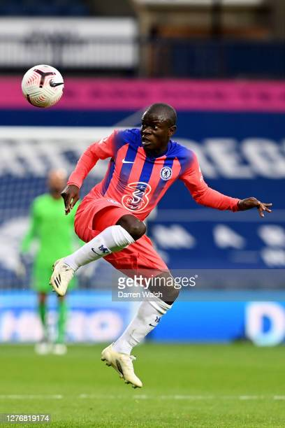 Golo Kante of Chelsea controls the ball during the Premier League match between West Bromwich Albion and Chelsea at The Hawthorns on September 26...
