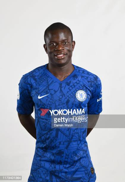 Golo Kante of Chelsea during the media open day at Chelsea Training Ground on July 29 2019 in Cobham England
