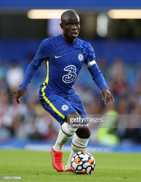 Golo Kante of Chelsea during the Pre Season Friendly match between Chelsea and Tottenham Hotspur at Stamford Bridge on August 04, 2021 in London,...