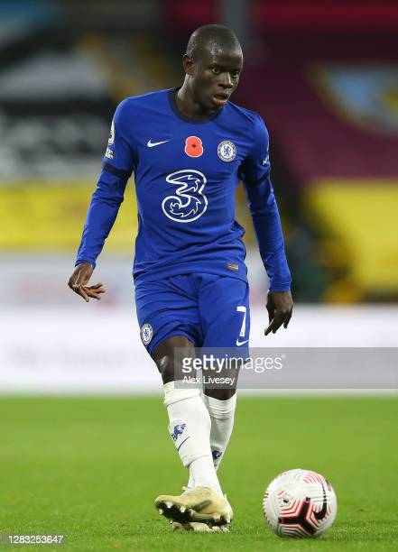 Golo Kante of Chelsea during the Premier League match between Burnley and Chelsea at Turf Moor on October 31 2020 in Burnley England Sporting...