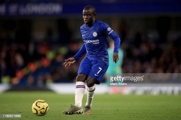 Golo Kante of Chelsea during the Premier League match between Chelsea FC and Southampton FC at Stamford Bridge on December 26 2019 in London United...