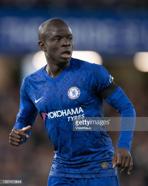 Golo Kante of Chelsea during the Premier League match between Chelsea FC and Manchester United at Stamford Bridge on February 17, 2020 in London,...