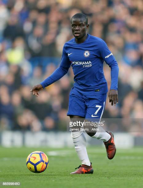 Golo Kante of Chelsea during the Premier League match between Chelsea and Newcastle United at Stamford Bridge on December 2 2017 in London England