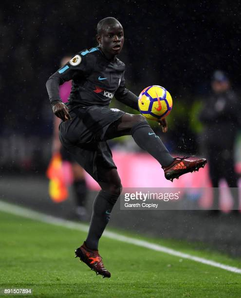 N'Golo Kante of Chelsea during the Premier League match between Huddersfield Town and Chelsea at John Smith's Stadium on December 12 2017 in...