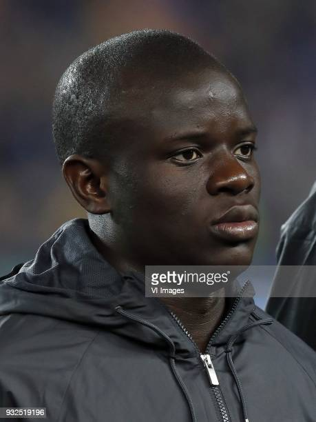 N'Golo Kante of Chelsea FC during the UEFA Champions League round of 16 match between FC Barcelona and Chelsea FC at the Camp Nou stadium on March 14...