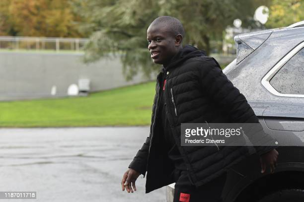 Golo Kante of France arrives ahead of a training session on November 11 2019 in Clairefontaine France France will play against Moldova in their UEFA...