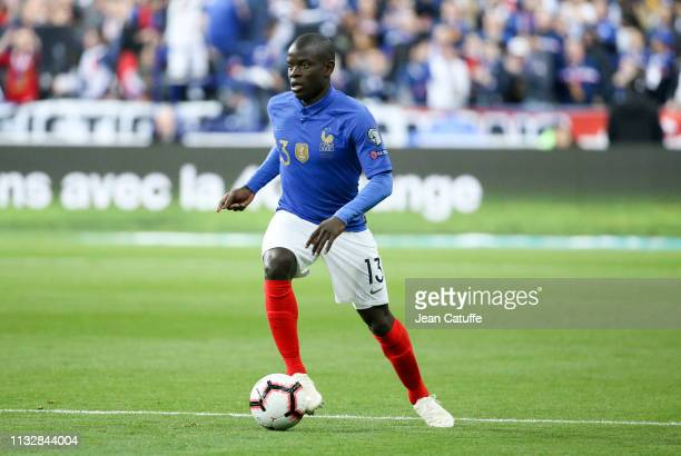 Golo Kante of France during the 2020 UEFA European Championships group H qualifying match between France and Iceland at Stade de France on March 25...