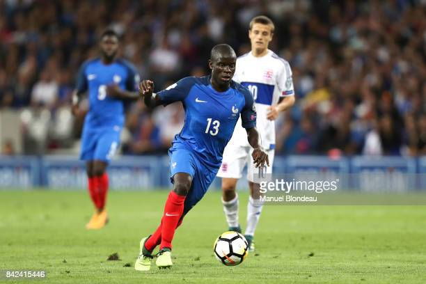 N'Golo Kante of France during the Fifa 2018 World Cup qualifying match between France and Luxembourg at on September 3 2017 in Toulouse France
