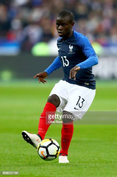 Golo Kante of France during the International friendly match between France and Columbia at Stade de France on March 23 2018 in Paris France