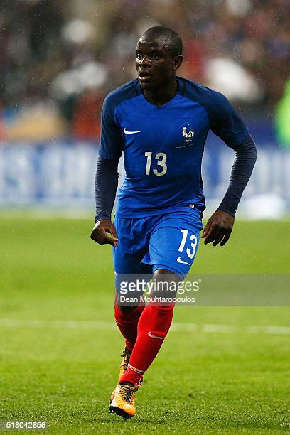Golo Kante of France in action during the International Friendly match between France and Russia held at Stade de France on March 29 2016 in Paris...