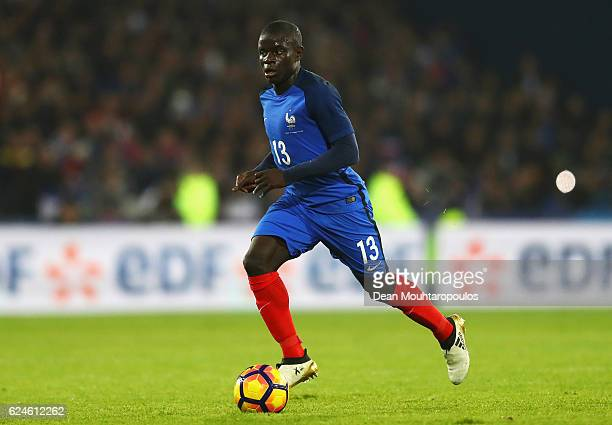 Golo Kante of France in action during the International Friendly match between France and Ivory Coast held at Stade Felix Bollaert Deleis on November...