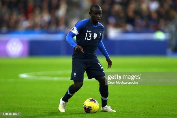 Golo Kante of France in action during the UEFA Euro 2020 Qualifier between France and Moldova held at Stade de France on November 14, 2019 in Paris,...