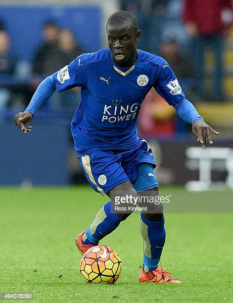 Golo Kante of Leicester during the Barclays Premier League match between Leicester City and Crystal Palace at The King Power Stadium on October 24...