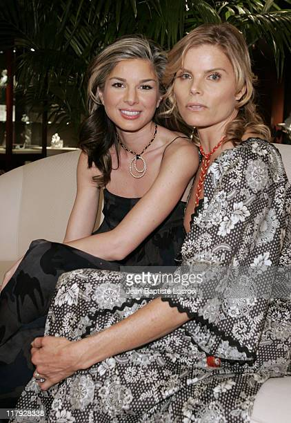 Golriz Moeini and Mariel Hemingway during Mariel Hemingway Signs Copies of Her Book 'Healthy Living From The Inside Out' January 19 2007 at Private...