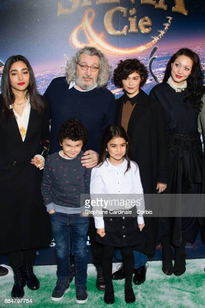 Golshifteh Farahani Alain Chabat Audrey Tautou and Louise Chabat attend the 'Santa Cie' Paris Premiere at Cinema Pathe Beaugrenelle on December 3...