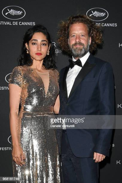Golshifteh Farahani and a guest attend the Women in Motion Awards Dinner presented by Kering and the 71th Cannes Film Festival at Place de la Castre...