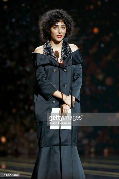 Golshifteh Farahani speaks on stage during the Cesar Film Awards 2018 at Salle Pleyel on March 2 2018 in Paris France