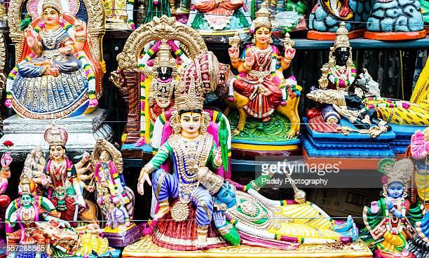 golu dolls, hindu gods - goddess lakshmi stock photos and pictures