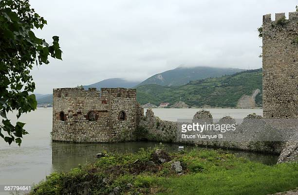 Golubac fortress with Danube River