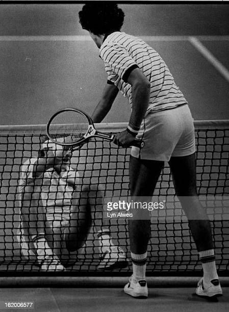 FEB 4 1981 FEB 4 1982 FEB 5 1982 Gomez Andres Groups Tennis Andres Gomez lends a helping hand to Met Purcell who slipped