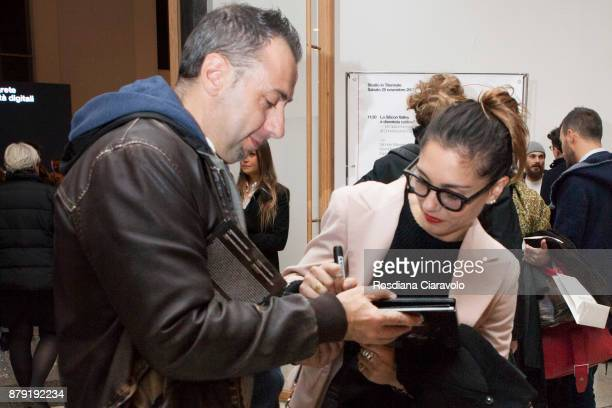 Gomorrah Tv Serie italian Actress Cristiana Dell'Anna attends the Studio In Triennale on November 25 2017 in Milan Italy