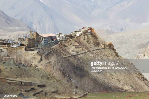 gompa in muktinath, nepal - pokhara stock pictures, royalty-free photos & images