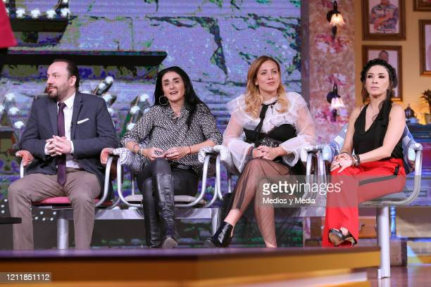 Gon Curiel Bárbara Torres Marcela Lecuona and Dalilah Polanco attend a press conference to present Telvisa's new TV series 'DL CompaÒia' at Televisa...