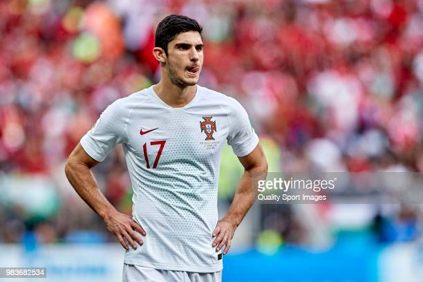 Gonçalo Guedes of Portugal looks on during the 2018 FIFA World Cup Russia group B match between Portugal and Morocco at Luzhniki Stadium on June 20...