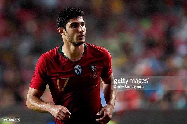 Gonçalo Guedes of Portugal looks on during the friendly match of preparation for FIFA 2018 World Cup between Portugal and Algeria at the Estadio do...