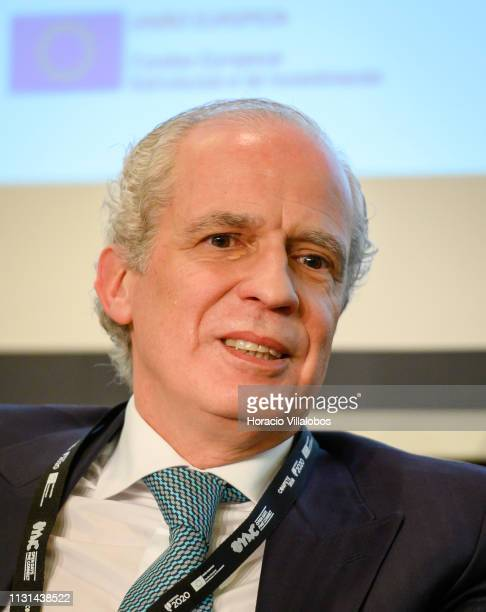 Gonçalo Moura Martins CEO of Grupo MotaEngil participates in a discussion panel at 'Open Days PME Connect' business networking event for small and...