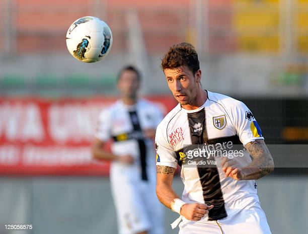 Goncalo Brandao of Parma FC during the friendly match between Mantova and Parma FC at Danilo Martelli Stadium on September 15 2011 in Mantova Italy