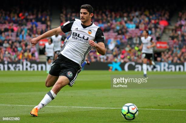 Goncalo Guedes during the match between FC Barcelona and Valencia CF played at the Camp Nou Stadium on 14th April 2018 in Barcelona Spain