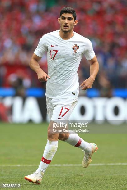 Goncalo Guedes of Portugal during the 2018 FIFA World Cup Russia group B match between Portugal and Morocco at Luzhniki Stadium on June 20 2018 in...