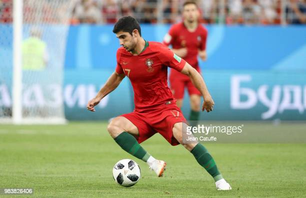 Goncalo Guedes of Portugal during the 2018 FIFA World Cup Russia group B match between Iran and Portugal at Mordovia Arena on June 25 2018 in Saransk...