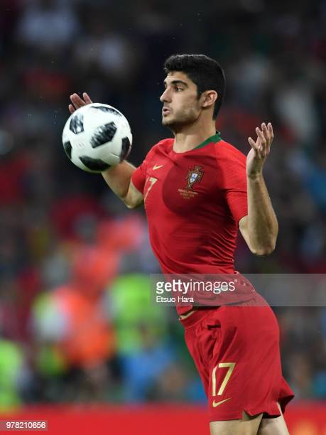 Goncalo Guedes of Portugal in action during the 2018 FIFA World Cup Russia group B match between Portugal and Spain at Fisht Stadium on June 15 2018...