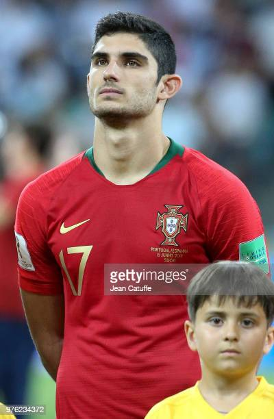 Goncalo Guedes of Portugal poses before the 2018 FIFA World Cup Russia group B match between Portugal and Spain at Fisht Stadium on June 15 2018 in...